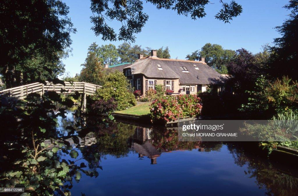 Maison du village lacustre de Giethoorn : News Photo