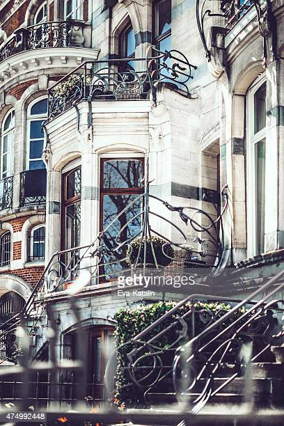 maison flagey in brusssels - art nouveau stock pictures, royalty-free photos & images