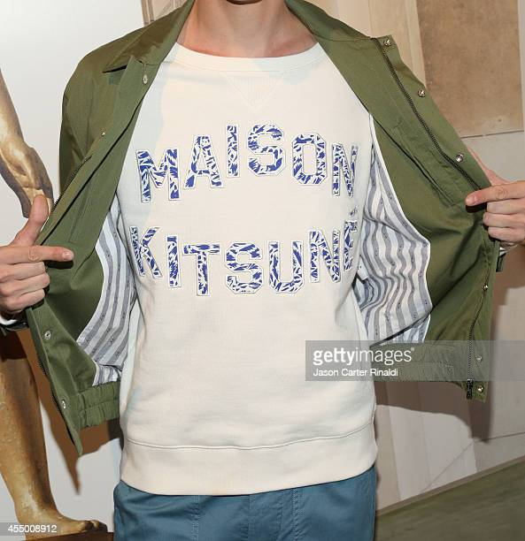 Maison Kitsune men's fashion detail Maison Kitsune Presentation MADE Fashion Week Spring 2015at The Standard Hotel on September 8 2014 in New York...