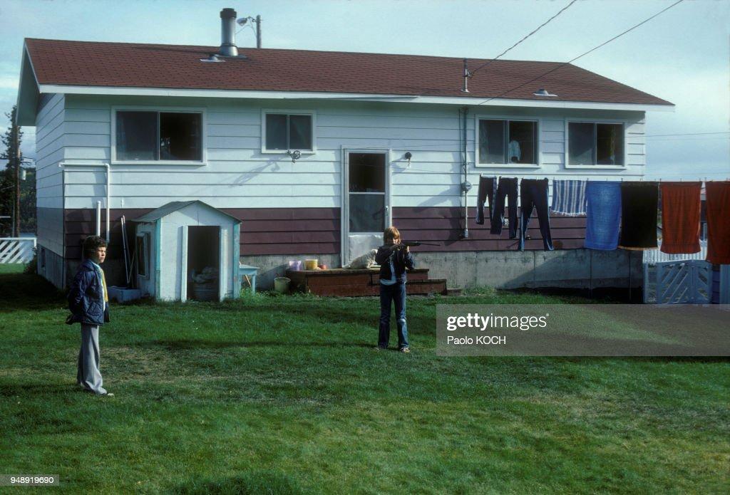 Maison à Uranium City, au Canada, en 1975. News Photo - Getty Images
