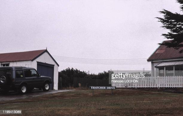 Maisons à Port Stanley dans les îles Malouines en 1994 RoyaumeUni