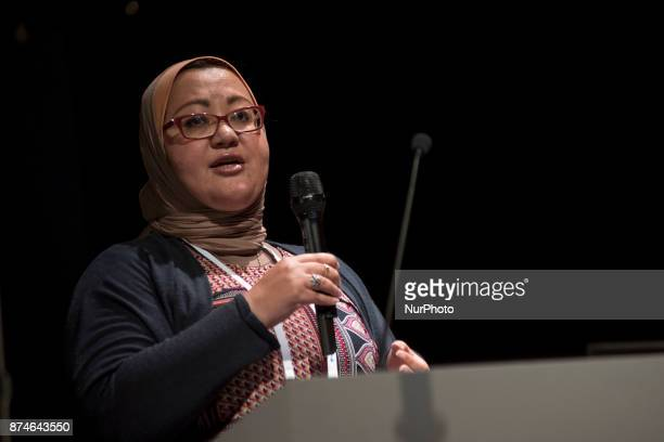 Maissa Azab Executive Director Childrens Museum Jordan speaks during the Science Centre World Summit 2017 is a global meeting convened once every...