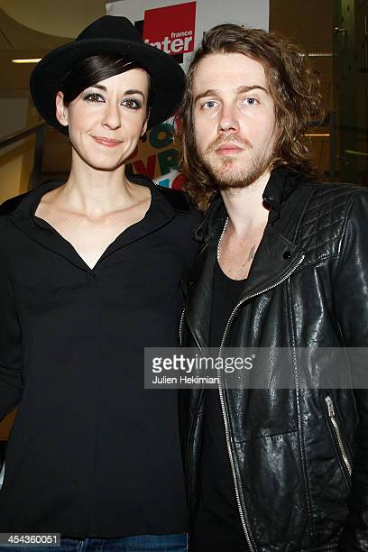 Maissiat and Julien Dore attend the 50th anniversary celebration of french radio France Inter at La Gaite Lyrique on December 8 2013 in Paris France