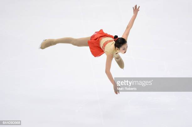 Maisy Hiu Ching Ma from Hong Kong competes in the women's short program figure skating on day six of the 2017 Sapporo Asian Winter Games at Makomanai...