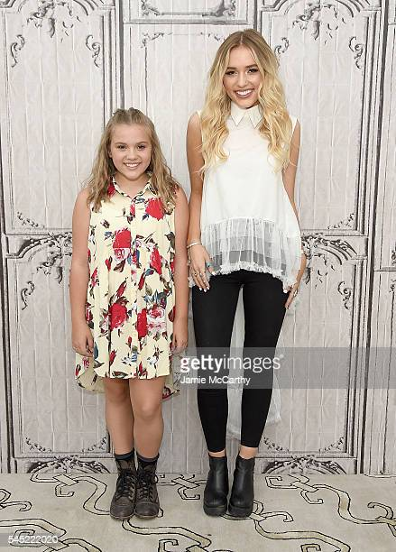 Maisy Stella and Lennon Stella attend AOL Build Speaker Series Lennon Maisy at AOL Studios In New York on July 6 2016 in New York City