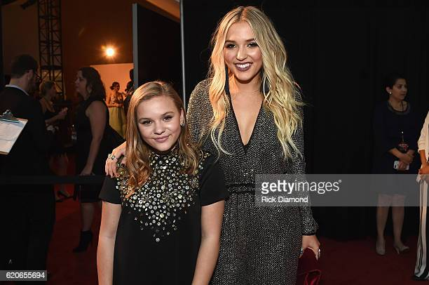 Maisy Stella and Lennon Stella of Lennon Maisy attend the 50th annual CMA Awards at the Bridgestone Arena on November 2 2016 in Nashville Tennessee