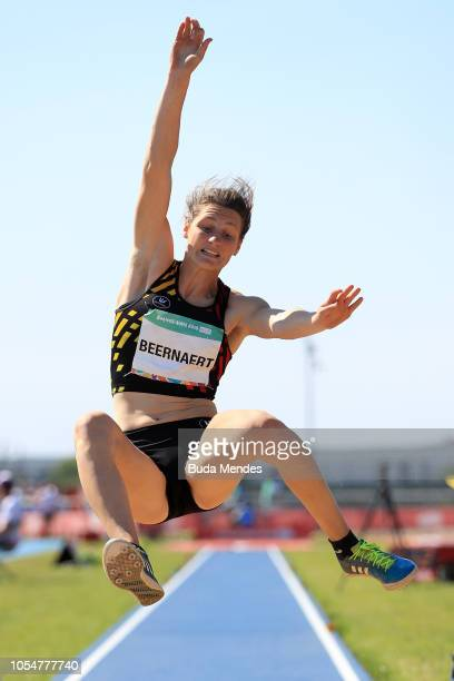Maite Beernaert of Belgium competes in Women's Long Jump Stage 2 during day 8 of Buenos Aires 2018 Youth Olympic Games at Youth Olympic Park Villa...
