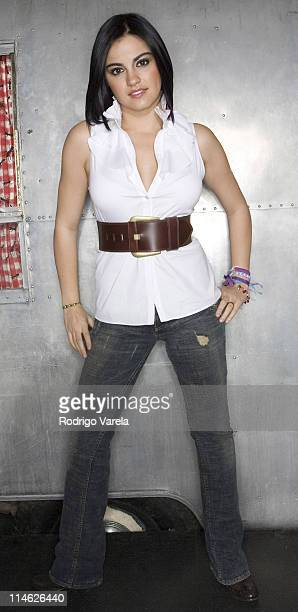 Maite from RBD Rebelde during RBD Rebelde Portrait Session at Pawn Shop in Miami Florida United States