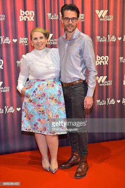 Maite Kelly and her husband Florent Raimond attend the 'Maite Kelly & bonprix' Spring/Summer 2015 Collection Presentation at Auto-Wichert-Welt on...
