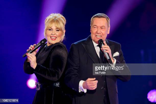 Maite Kelly and Roland Kaiser during the television show 'Schlagerchampions Das grosse Fest der Besten' at Velodrom on January 12 2019 in Berlin...