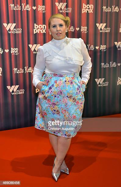 Maite Kelly attends the 'Maite Kelly bonprix' Spring/Summer 2015 Collection Presentation at AutoWichertWelt on April 9 2015 in Hamburg Germany