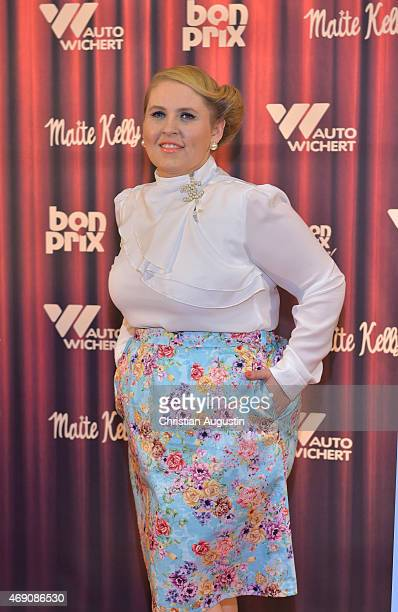 Maite Kelly attends the 'Maite Kelly & bonprix' Spring/Summer 2015 Collection Presentation at Auto-Wichert-Welt on April 9, 2015 in Hamburg, Germany.