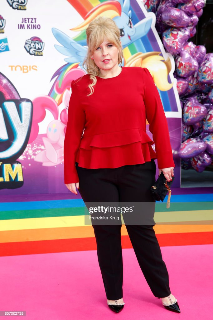 Maite Kelly attends the 'My little Pony' Premiere at Zoo Palast on October 3, 2017 in Berlin, Germany.