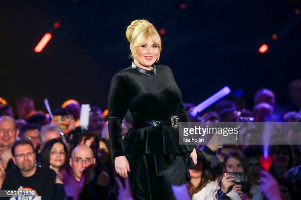 Maite Kelly during the television show 'Schlagerchampions - Das grosse Fest der Besten' at Velodrom on January 12, 2019 in Berlin, Germany.