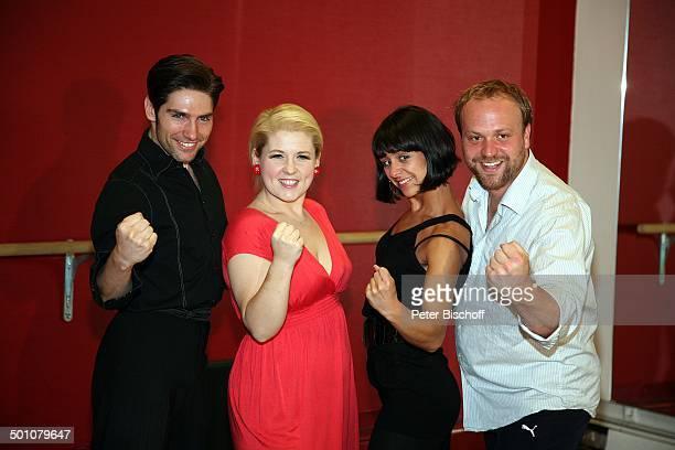 Maite Kelly mit Tanzpartner Christian Polanc , Moritz A. Sachs mit Tanzpartnerin Melissa Ortiz-Gomez, Training für Finale der 4. Staffel der...