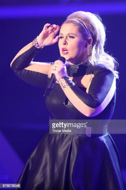 Maite Kelly performs at the TV Show 'Die Schlager des Jahres 2017' on November 25, 2017 in Suhl, Germany.