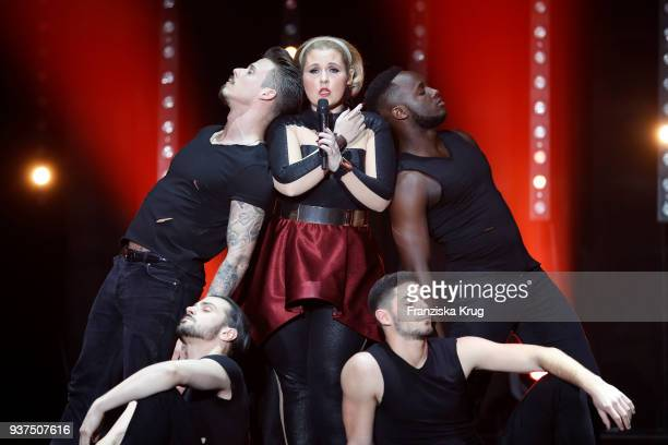 Maite Kelly performs during the tv show 'Willkommen bei Carmen Nebel' on March 24, 2018 in Hof, Germany. The show will be aired on March 24, 2018.