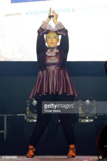 Maite Kelly permorms during the Ole Schlagerparty at Barclaycard Arena on June 16, 2018 in Hamburg, Germany.