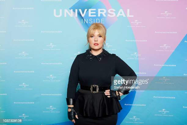 Maite Kelly poses for a photo during Universal Inside 2018 organized by Universal Music Group at Mercedes-Benz Arena on September 12, 2018 in Berlin,...