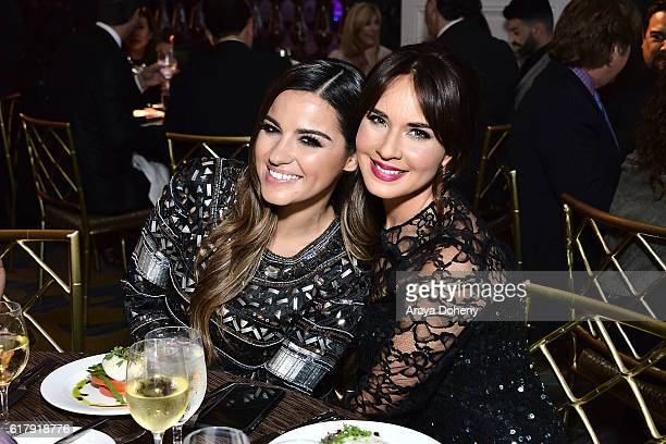Maite Perroni and Adriana Louvier attend the The Paley Center for Media's Hollywood Tribute to Hispanic Achievements in Television at the Beverly...