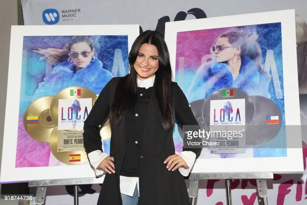 Maite Perroni attends a press conference to promote her new single Como Yo Te Quiero at St Regis Hotel on February 15 2018 in Mexico City Mexico