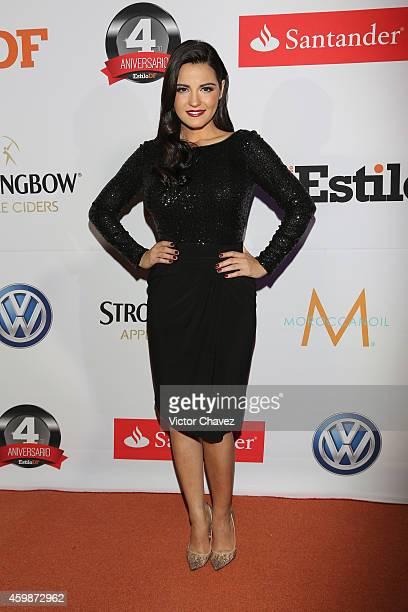Maite Perroni attends the EstiloDF 4th Anniversary at Aqua Bosques hotel on December 2 2014 in Mexico City Mexico