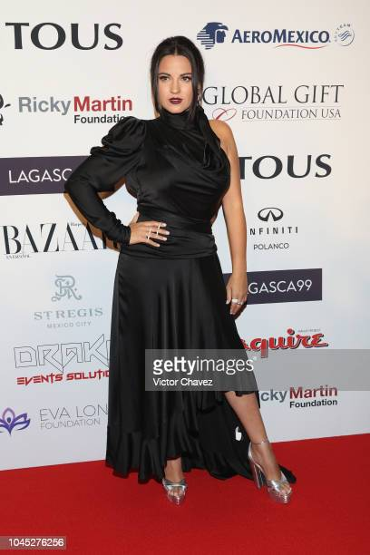 Maite Perroni attends the Global Gift Gala red carpet at St Regis hotel on October 3 2018 in Mexico City Mexico