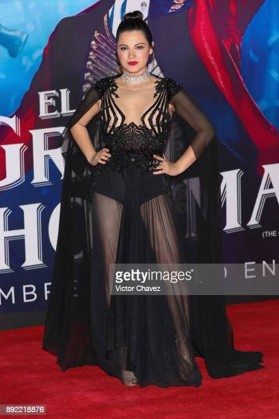 Maite Perroni attends 'The Greatest Showman' premiere red carpet at Oasis Coyoacan on December 13 2017 in Mexico City Mexico