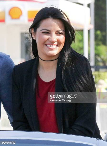 Maite Perroni is seen at the 2018 Three Kings Day Parade on January 14 2018 in Miami Florida