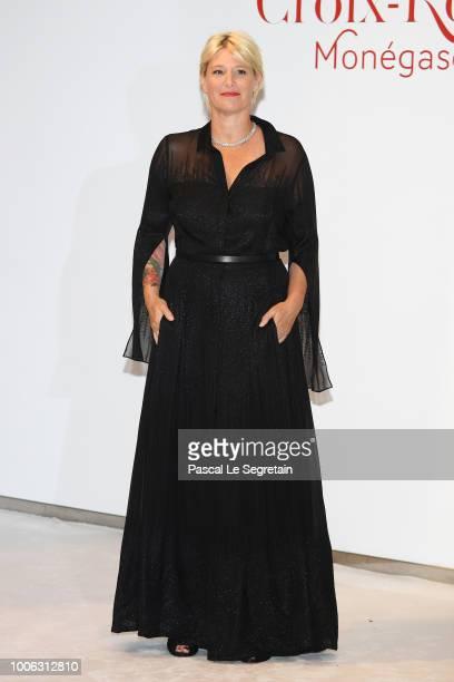 Maitena Biraben attends the 70th Monaco Red Cross Ball Gala on July 27 2018 in MonteCarlo Monaco