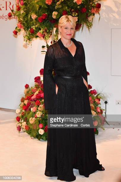 Maitena Biraben attends the 70th Monaco Red Cross Ball Gala on July 27 2018 in MonteCarlo Monaco