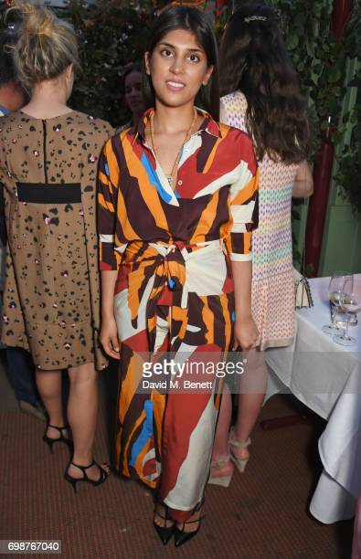 Maithili Khatau attends a cocktail evening to celebrate the Edie Parker Resort 2018 collection at Mark's Club on June 20 2017 in London England