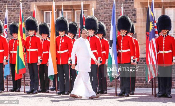 HE Maithripala Sirisena of Sri Lanka arrives to the Executive Session of the Commonwealth Heads of Government in London England April 19 2018