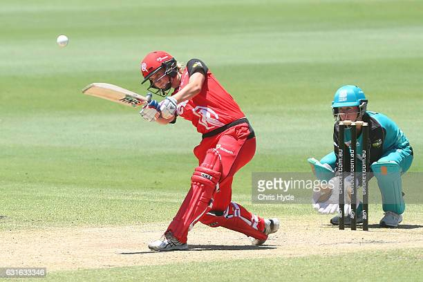 Maitlan Brown of the Renegades bats during the Women's Big Bash League match between the Brisbane Heat and the Melbourne Renegades at Allan Border...