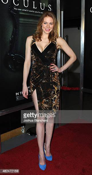 Maitland Ward arrives at Oculus Los Angeles screening at TLC Chinese 6 Theatres on April 3 2014 in Hollywood California