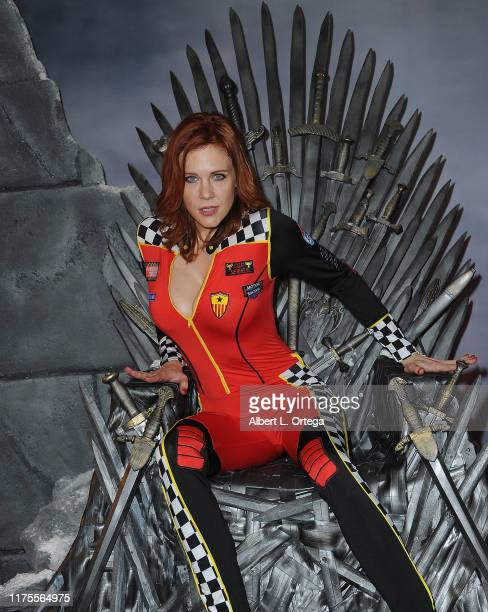 Maitland Ward attends Day 3 of the 2019 Los Angeles ComicCon held at Los Angeles Convention Center on October 10 2019 in Los Angeles California