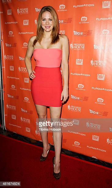 Maitland Ward attends the 'Dragon Ball Z Battle Of Gods' Los Angeles premiere at Regal Cinemas LA Live on July 3 2014 in Los Angeles California