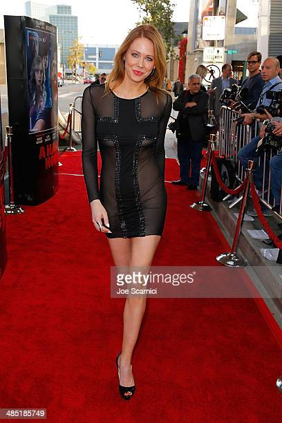 Maitland Ward walks the A Haunted House 2 Los Angeles Premiere Red Carpet at Regal Cinemas LA Live on April 16 2014 in Los Angeles California