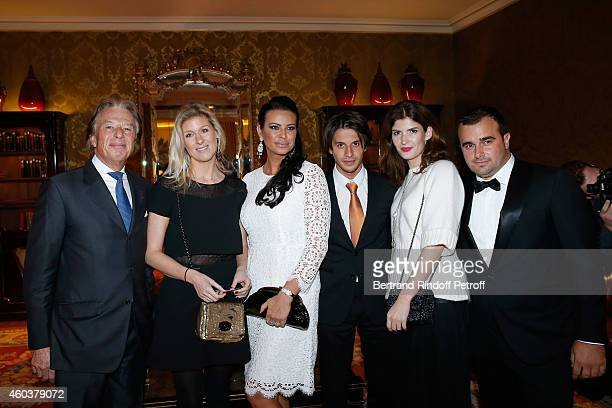 Maitre Georges Delettrez Eleonore Lanvin SAR Princesse Kasia Al Thani guest guest and Harry Haysbert Bongo attend The Children for Peace Gala at...