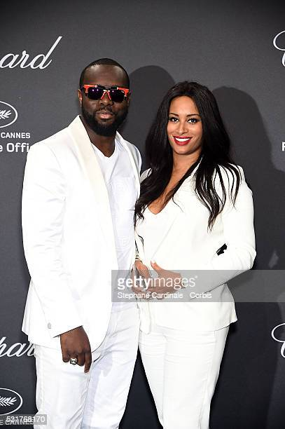 Maitre Gims and his wife DemDem attend the Chopard Party at the 69th annual Cannes Film Festival on May 16 2016 in Cannes France