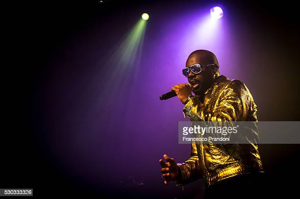 Maitre Gims performs on May 10 2016 in Milan Italy