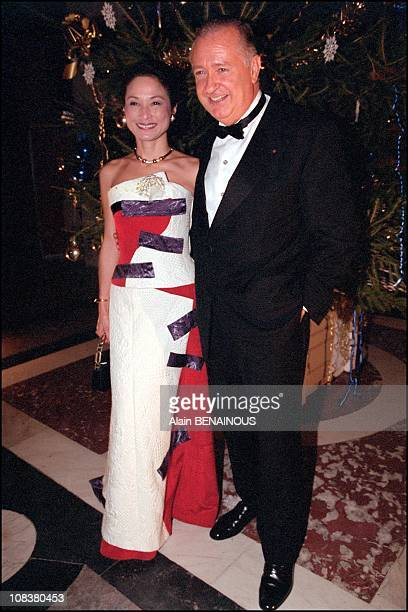 Maitre Jacques Tajan and his wife in Versailles France on December 03 2001