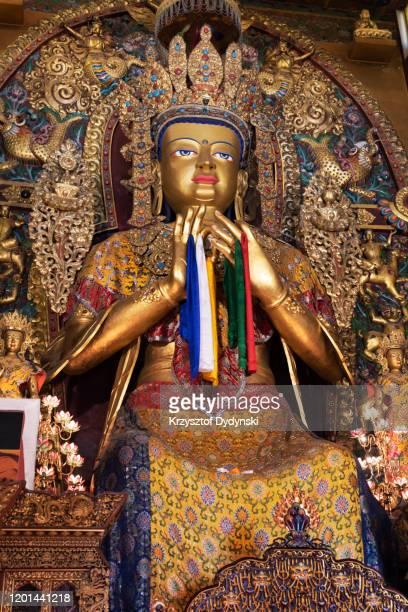 maitreya buddha, jamchen lhakhang monastery, kathmandu - 仏陀の目 ストックフォトと画像