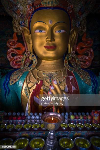 Maitreya buddha of Thiksey monastery