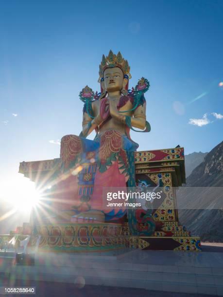 A Maitreya Statue of Buddha at Diskit Monastery