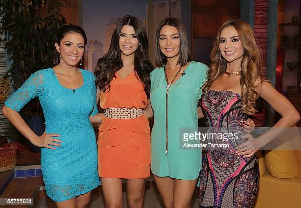 Maity Interiano Ana Patricia Gonzalez Zuleyka Rivera and Ximena Cordoba are seen on the set of Despierta America at Univision Headquarters on October...