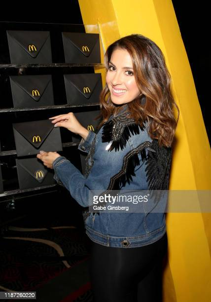 Maity Interiano attends the gift lounge during the 20th annual Latin GRAMMY Awards at MGM Grand Hotel & Casino on November 12, 2019 in Las Vegas,...