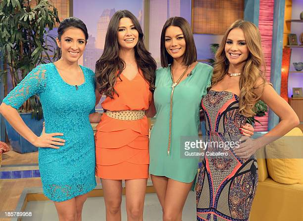 Maity InterianoAna Patricia GonzalezZuleyka RiveraXimena Cordoba is seen on the set of Despierta America at Univision Headquarters on October 24 2013...