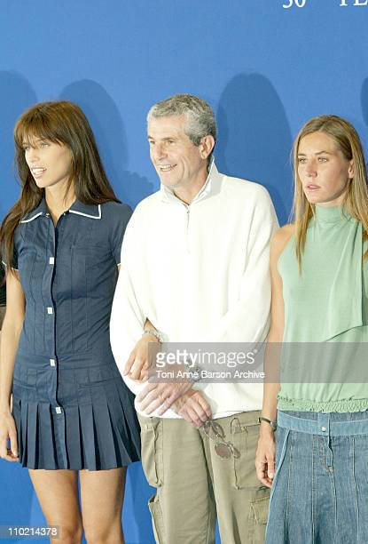 Maiwenn Claude Lelouch and Mathilde Seigner during 30th Deauville American Film Festival 'Le Genre Humain' Photocall at CID in Deauville France