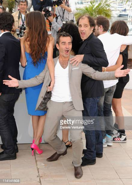 "Maiwenn Le Besco, Arnaud Henriet and Frederic Pierrot attend the ""Poliss"" Photocall during the 64th Annual Cannes Film Festival at the Palais des..."